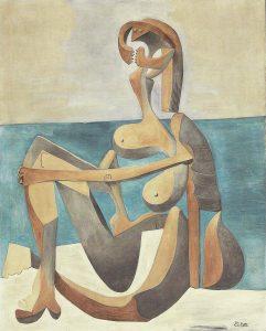 Obras importantes de Picasso - Bañista sentada