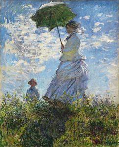 Mujer con Sombrilla- Monet