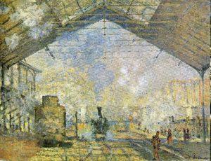 La Gare Saint-Lazare -1877- 10 Mejores Cuadros de Monet
