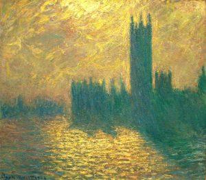10 Mejores Cuadros de Monet- Los Parlamentos de Londres
