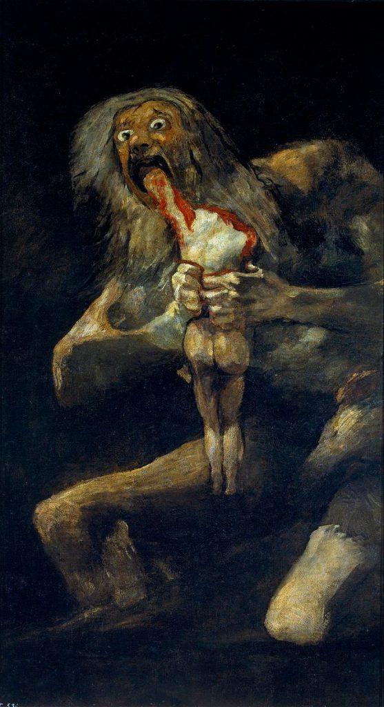 Saturno Devorando a un Hijo Goya obras del museo del Prado