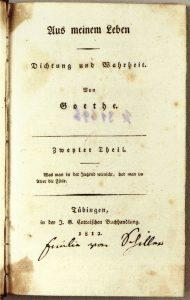 Poesía y verdad- Goethe