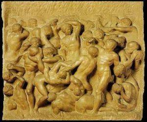 La Batalla de los Centauros - Obras de Michelangelo