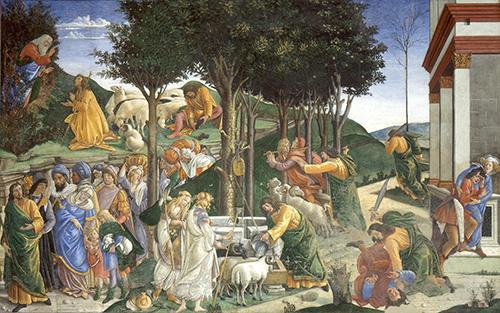 Pruebas de Moises de Botticelli