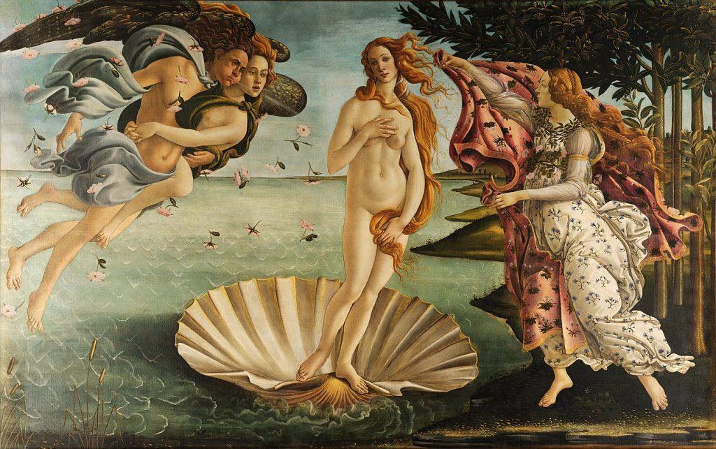 El nacimiento de Venus. Una de las obras de Botticelli mas famosas