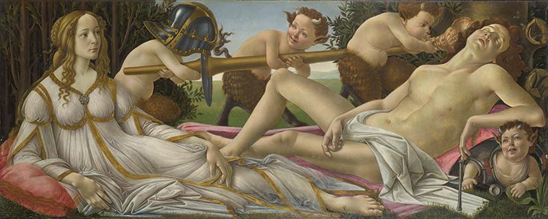 Venus y Marte Obras de Botticelli
