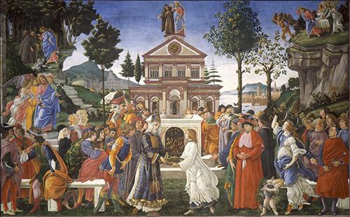 Las tentaciones de Cristo pinturas mas importantes de Botticelli