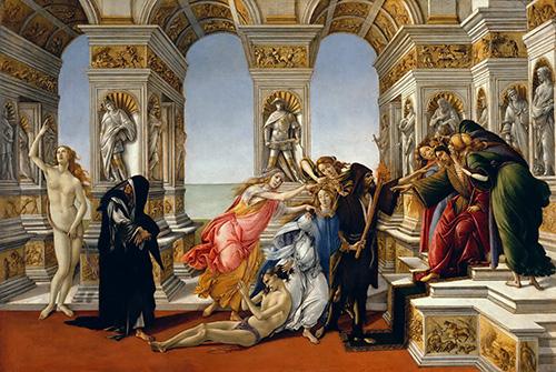 La calumnia de apeles de Botticelli