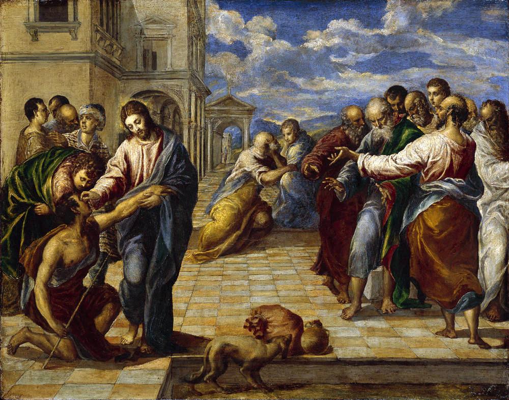 La curación del ciego - Pinturas famosas