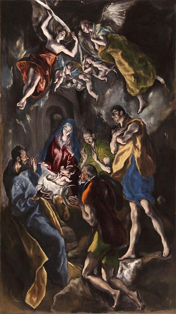 La adoración de los pastores - obras de el greco