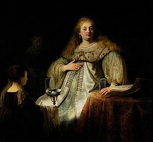Rembrandt en el museo del prado - cuadro de judit  en el banquete de holofernes