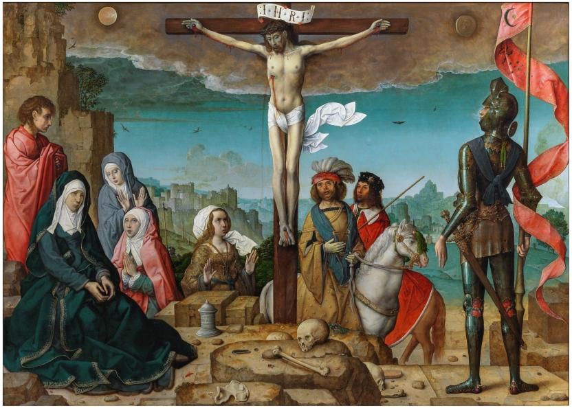 la crucifixion - juan de flandes en el prado