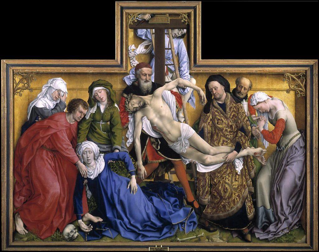 descendimiento de la cruz en el museo nacional del prado - autor Rogier Van der Weyden