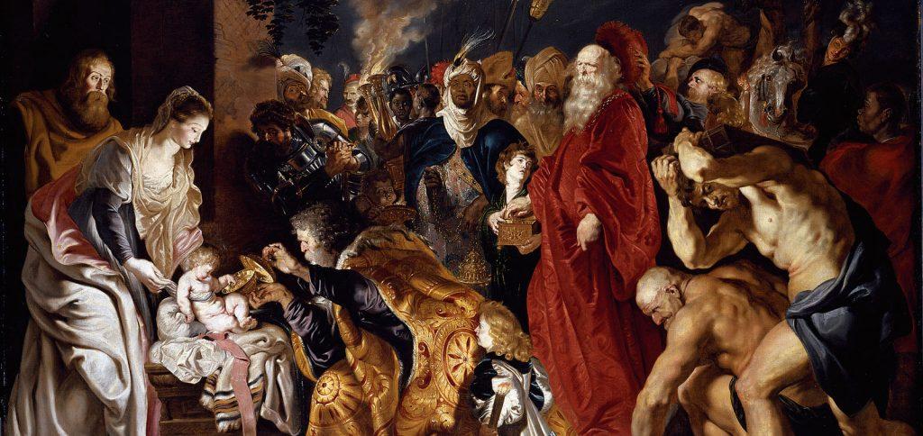 la adoracion - cuadro de Rubens en el Prado